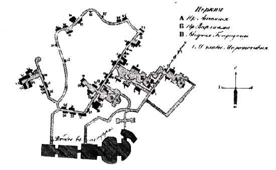 План-схема Ближних Пещер Лавры